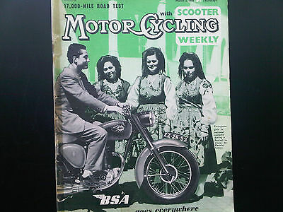 Motor Cycling With Scooter Weekly Magazine March 3 1960 Ducati test etc