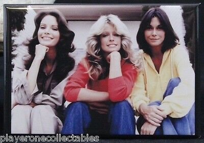 "Charlie's Angels Photo 2"" X 3"" Fridge Magnet. Farrah Fawcett Jaclyn Smith"