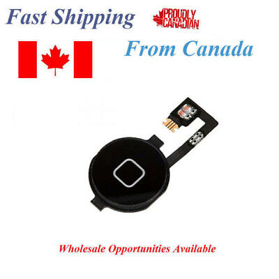 Apple iPhone 4 Home Button Black With Flex Cable