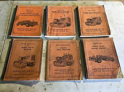 Lot Of Great Allis Chalmers Tractor Books Early Crawlers Equipment Original Farm