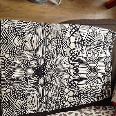 M & S Patterned Pencil Skirt Size 8