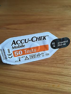 Accu-Chek Mobile Test Cassette 1X50 - BRAND NEW SEALED NOT BOXED EXP APR 2018