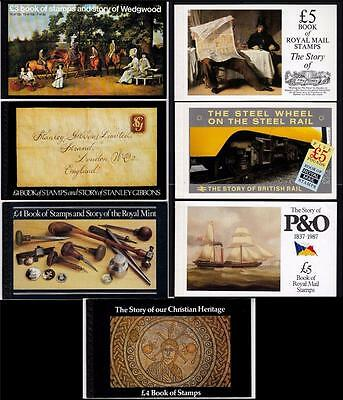 GB Prestige BOOKLETS 1980 to 1987 MNH Dx2 to Dx8 Booklets x7 #A1860