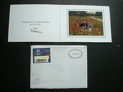 PRINCE CHARLES SIGNED CHRISTMAS CARD 1994 -  palace stamped envelope