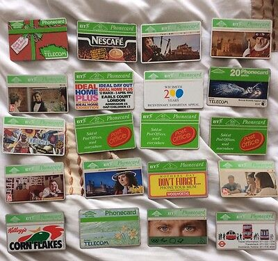 20 Collectable BT Phonecards Joblot