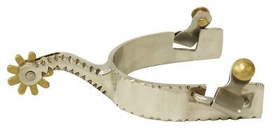 Showman Stainless Steel Western Spurs w/ Notched Design!! NEW HORSE TACK!!