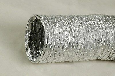 """Flex Duct (case of 4) Wire Reinforced 12"""" x 25' Section - Reusable Flexible Duct"""