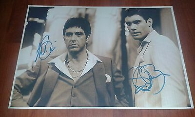 Scarface Movie Poster. Cast Signed. Al Pacino. Gangster. Crime.