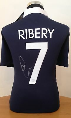 Signed Franck Ribery France World Cup Shirt 2014 With Exact Photo Proof & Coa