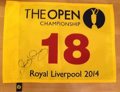 Signed Rory Mcilroy Royal Liverpool 2014 Pin Flag With Proof & Coa Full Signatur