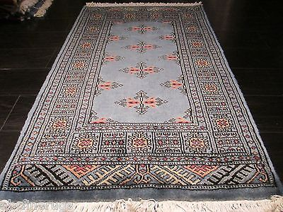 2x3 Bokhara Allover pattern Natural Turkish Knot Hand-knotted Wool Rug 582489