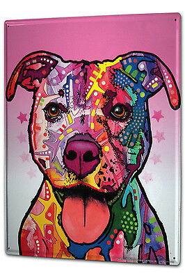 Tin Sign XXL Ravtive Vet Practice Pitbull