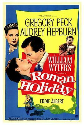 Roman Holiday Movie POSTER 27 X 40 Audrey Hepburn, Gregory Peck LICENSED USA NEW