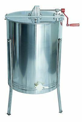 Stainless Steel Honey Extractor Four 4 Frame Beekeeping for Langstroth & Dadant
