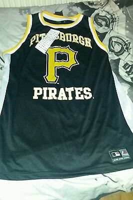 Brand new with tags pittsburgh pirates finche singlet (large)
