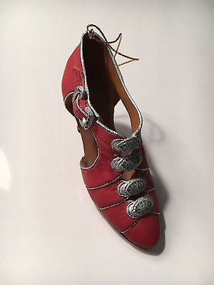 Victorian Red Shoe Christmas Ornaments 2.5 in tall