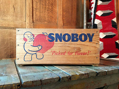 Vintage Wood Crate, Snoboy Wooden Produce Crate, Snoboy Apple Crate, Fruit Crate