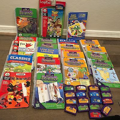 LEAPFROG LEAP PAD LOT - 21 BOOKS AND CARTRIDGE SETS only