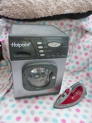 CASDON Toy REAL Working HOTPOINT Electronic WASHING MACHINE and TEFAL Play IRON