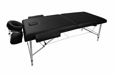 Black Salon Portable Massage Bed Couch Adjustable Height Tattoo Beauty (HM2711)