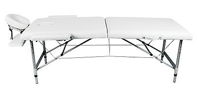White Salon Portable Massage Bed Couch Adjustable Height Tattoo Beauty (HM2711)