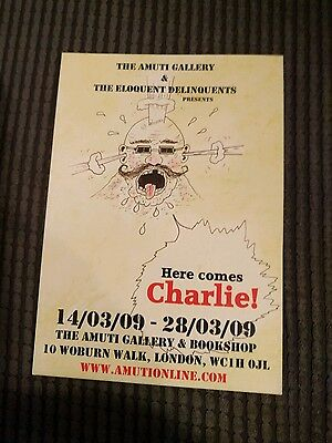 Charles Bronson Here Comes Charlie! Rare outsider art exhibition  flyer 2009.
