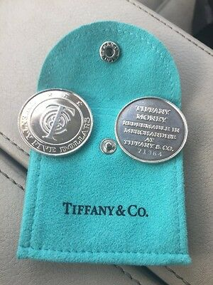 PAIR of TIFFANY & Co $25 Tiffany Money-Redeemable in Merchandise Sterling/Pouch