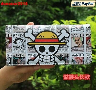 Cartera Pirata De La Serie One Piece Calavera Monkey D Luffy Wallet (Colgante)
