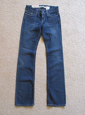New with Tags Women's Gap Denim Blue Jeans Straight Bootcut Size 0 Long 0L