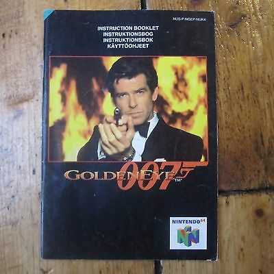 Goldeneye 007 N64 Instruction Manual Only Genuine Replacement Free P+P