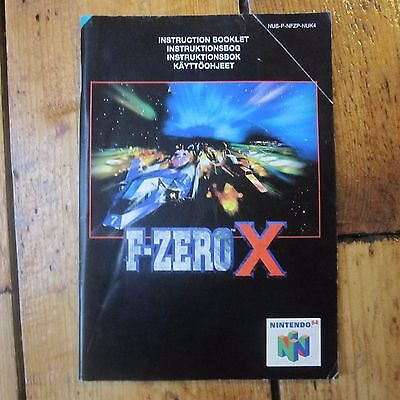 F Zero X N64 Instruction Manual Only Genuine Replacement Free P+P