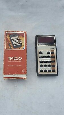 Vintage TEXAS INSTRUMENTS TI-1200 Electronic Calculator with Original Box TESTED
