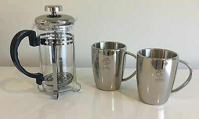 Promotional Coffee Plunger & 2 Thermo Cup Boxed Set - New Never Used