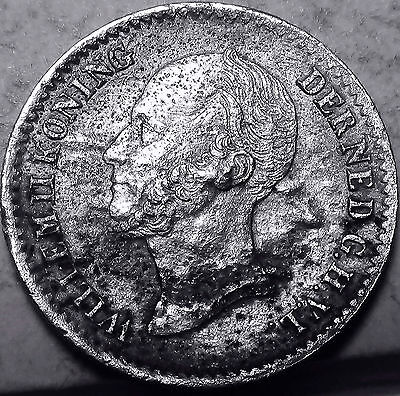 Holland Netherlands Dutch 10 cent 1849    about EXTRA  FINE silver    (908)