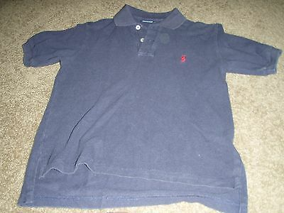 Boy's Size S Blue Short Sleeve Solid Polo Shirt by Ralph Lauren 100% Cotton