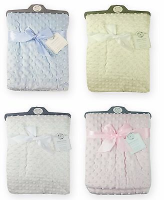 Baby Boys Girls Super Soft Bubble Wrap Blanket In Different Colors 907
