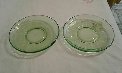 Federal Glass - Colonial Fluted - Saucers (2) *** SALE ***
