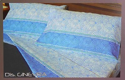 Lenzuolo Matrimoniale Completo In Cotone Percalle 100% Made In Italy Stampato
