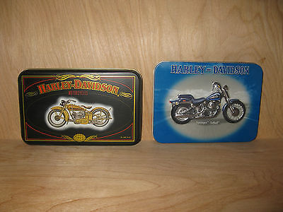 HARLEY-DAVIDSON Playing Cards 4 Sealed Decks In Collectible Tin's 1997, 2001