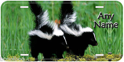 Baby Skunk Aluminum Any Name Personalized Car Auto Tag License Plate