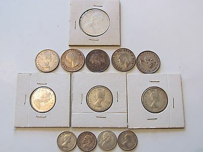 Lot of 13 Silver Canadian Coins