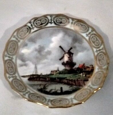 LIMOGES FRANCE 4 INCH PLATE Windmills