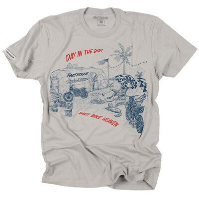 """Fasthouse MX Camp """"Day in the Dirt"""" Motorcycle Mens Tee"""