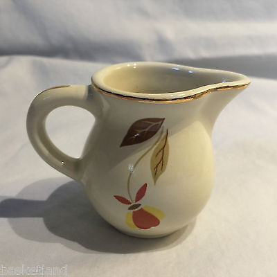 Hall Autumn Leaf Jewel Tea 22K Gold Trimmed 2 Oz  Creamer Miniature • New Stock