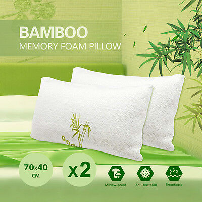 Shredded Memory Foam Pillows  with Viscose Rayon Cover derived from Bamboo