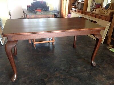 Antique, Queen Anne dining table