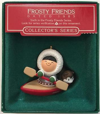1985 Frosty Friends Canoe with Box #6 Hallmark Ornament