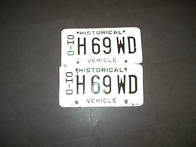Set Of Ohio Automobile Historical License Plates With Matching Numbers