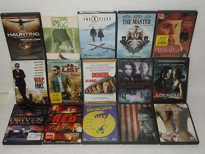 DVD Movie Lot of 15 Action / Pop Culture Films War Inc., Lock Out, The Hit list