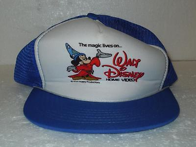 Walt Disney Mickey Mouse The Magic Lives On Trucker Mesh Back hat Cap Blue Youth